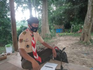 Ketua Dewan Saka Wanabakti Wirosari mengikuti latihan rutin