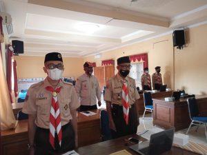 Kak Anang Armunanto, Wakil Ketua Kwarcab dan Kak Sarwiyanto beserta Ketua Bidang mengikuti Rakerda Tahap I