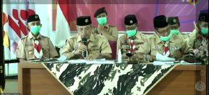 Wakil Ketua Kwarda Jawa Tengah menyampaikan hasil Lomba Kwartir Tergiat Tahun 2020