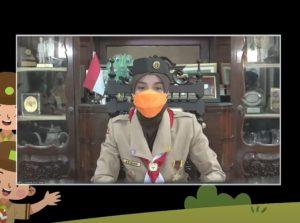 Ketua Kwarda Jawa Tengah membuka Pesta Siaga secara daring